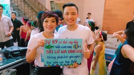 'Chị em Idol' Hải Yến, Việt Thắng tham gia hoạt động giúp trẻ tự kỷ