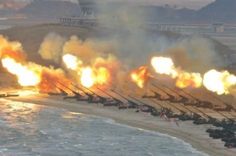 Triều Tiên tháo ngòi nổ ngày 25/4 bằng diễn tập bắn đạn thật