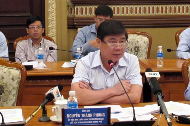 Chu tich UBND TP.HCM Nguyen Thanh Phong: Khong de tai chiem via he