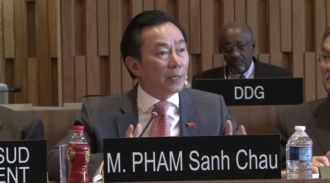 Phan ung thi an tuong cua ong Pham Sanh Chau vao vi tri TGD UNESCO