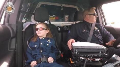 Cô bé 6 tuổi được làm cảnh sát như ước nguyện trước khi lìa đời