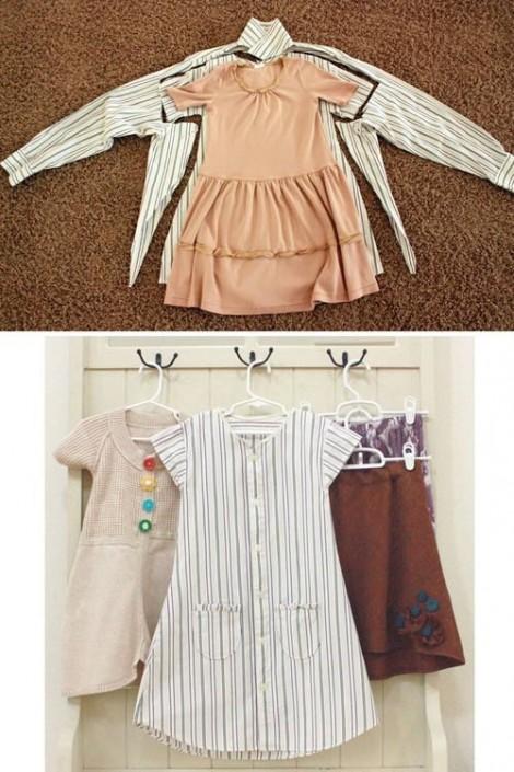 Ý tưởng hô biến quần áo cũ của bố mẹ thành đồ cho con