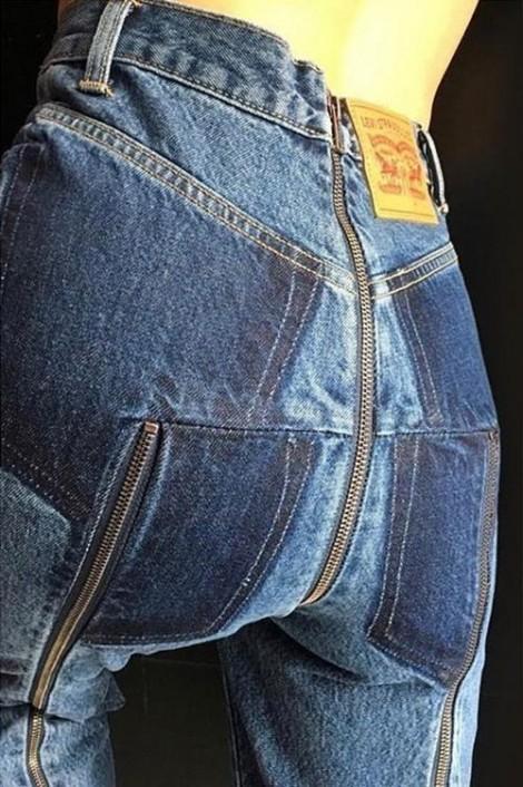 Mẫu quần jeans lạ mắt gây sốt