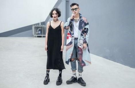 Phong cách thời trang quái lạ của cặp đôi Châu Bùi - Cao Minh Thắng