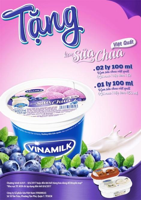 Tặng kem sữa việt quất khi mua kem Vinamilk
