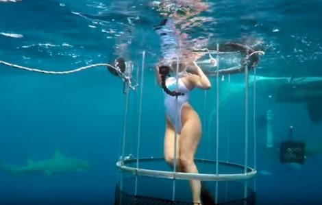 Ngôi sao khiêu dâm may mắn thoát khỏi hàm cá mập