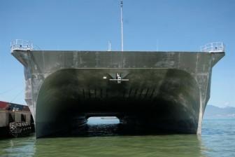 Tàu vận tải siêu tốc của Mỹ tham gia diễn tập tại Đà Nẵng
