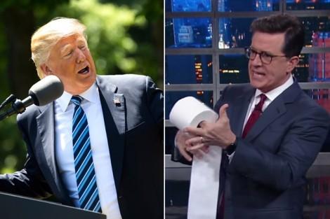 MC bị 'sờ gáy' vì chế nhạo Trump