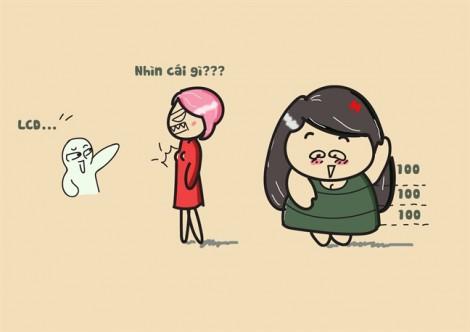 Sự khác nhau hài hước giữa nàng béo và gầy