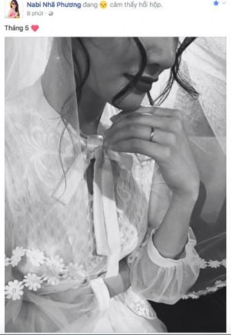 Nhã Phương khoe nhẫn cưới giữa tin đồn đám cưới với Trường Giang