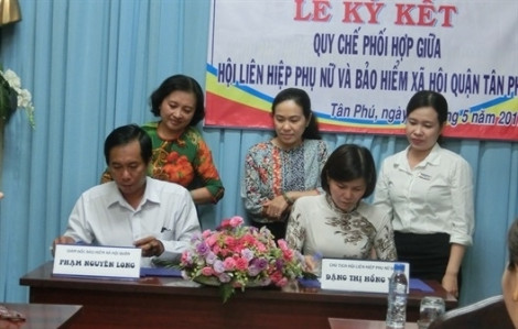 Quận Tân Phú:  Ký kết quy chế phối hợp cùng bảo hiểm xã hội