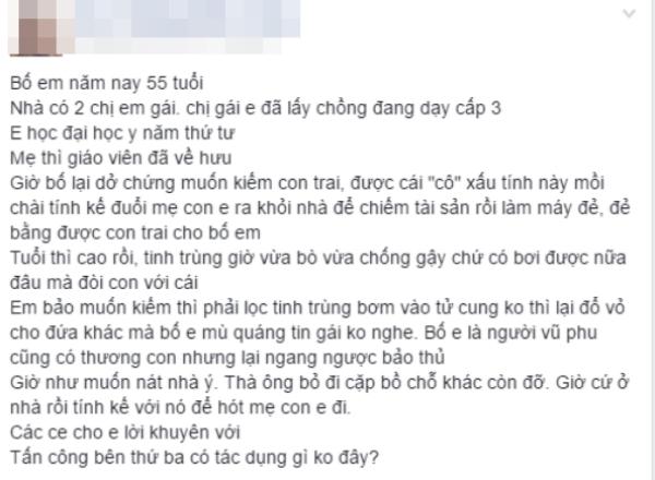 Toi khao khat co nguoi 'chong gay' luc gia vi 'con gai la con nguoi ta'