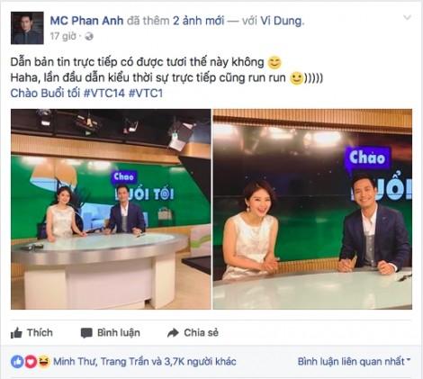 MC Phan Anh lần đầu dẫn chương trình thời sự sau thông tin bị cấm sóng VTV