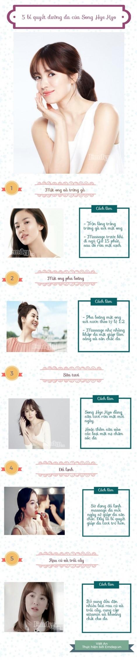 Tại sao da Song Hye Kyo luôn trắng mịn, không tỳ vết?