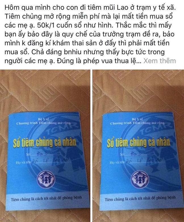 Vu so tiem chung gia 50 ngan dong: Can bo tram y te tra lai tien thu sai!