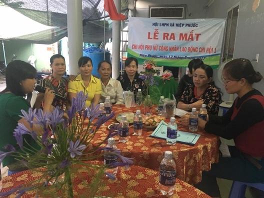 Huyen Nha Be: Ra mat chi hoi phu nu cong nhan lao dong