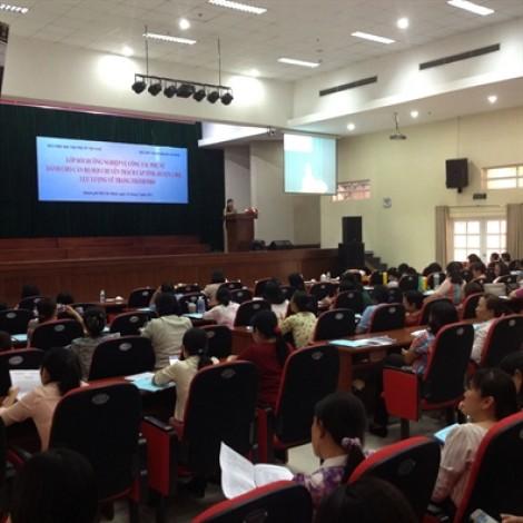 120 cán bộ Hội được bồi dưỡng nghiệp vụ công tác phụ nữ