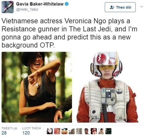 Lộ diện vai diễn của Ngô Thanh Vân trong bom tấn Hollywood 'Star Wars: The Last Jedi'