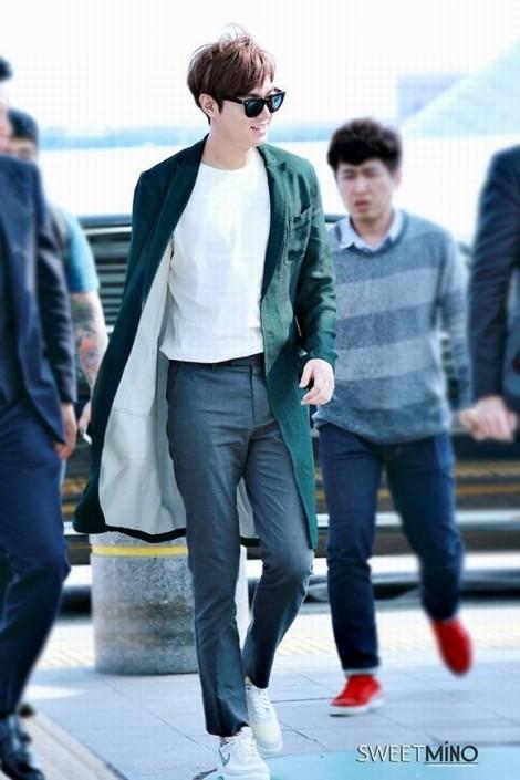 Gu thời trang đời thường trẻ trung của Lee Min Ho