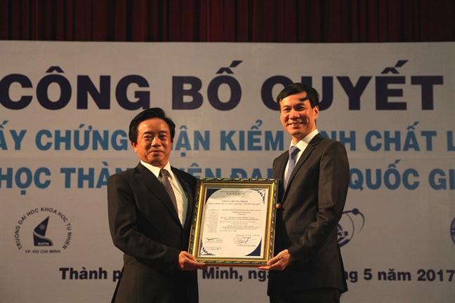 Dai hoc Quoc gia TP.HCM dan dau ve so chuong trinh dat chuan chat luong quoc te