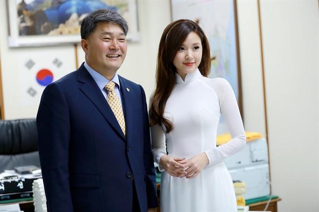 Midu sang Han Quoc dong phim
