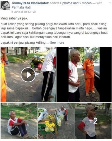 Chuyện cổ tích về ông già bán chuối ở Indonesia