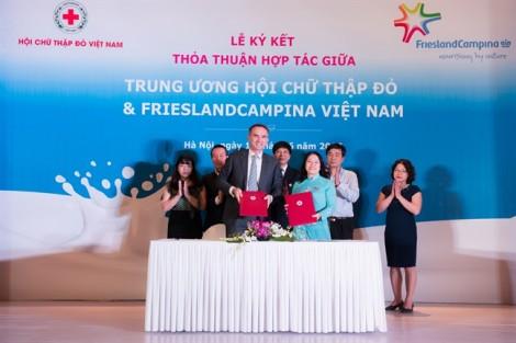 Hội chữ thập đỏ Việt Nam & Frieslandcampina Việt Nam ký kết thỏa thuận hợp tác