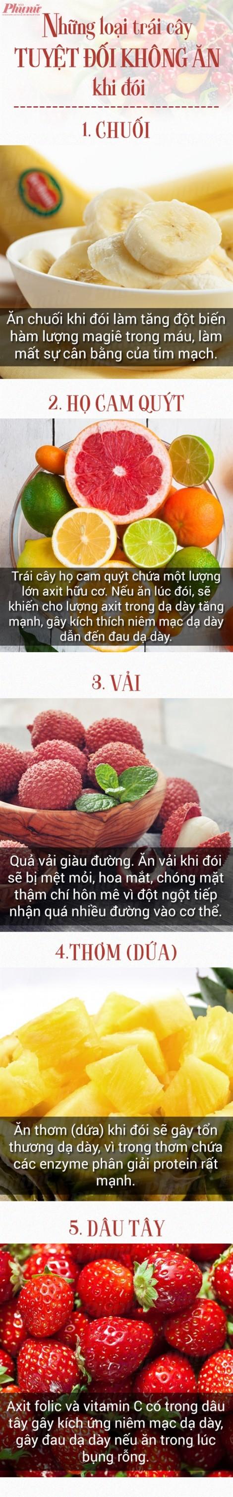 Tuyệt đối không ăn những loại trái cây này khi đói