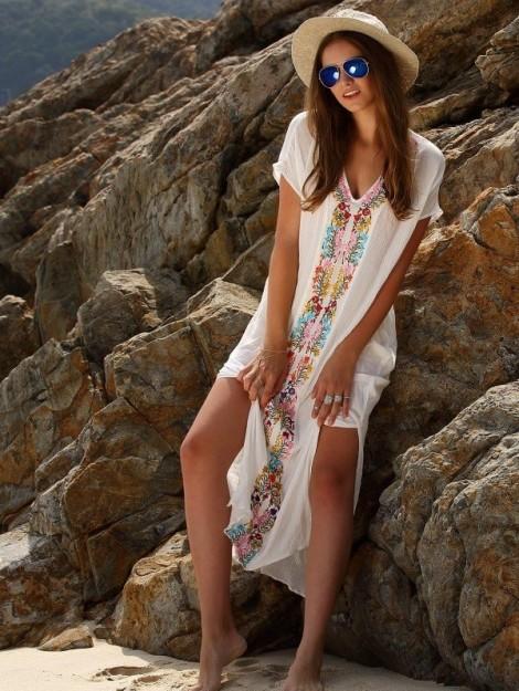 Quyến rũ với đầm bohemian dưới nắng hè