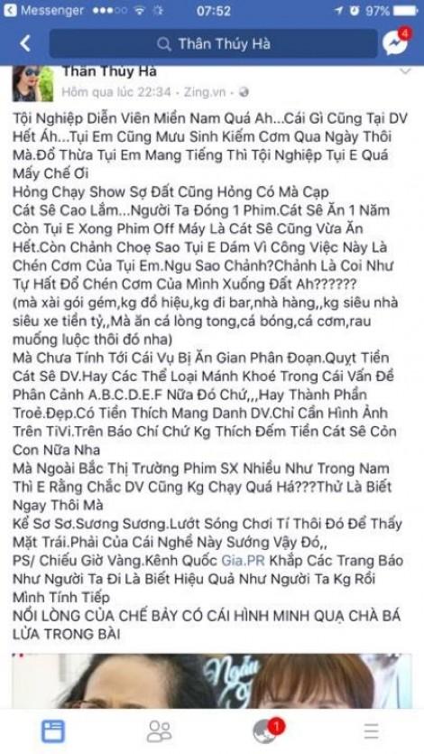 Sao Việt bức xúc lên tiếng trước thông tin chỉ trích diễn viên truyền hình miền Nam