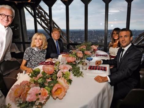 Tổng thống Trump tận hưởng hương vị của kinh đô ánh sáng Paris