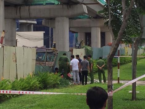 Người đàn ông chết bất thường cạnh hàng rào ga metro trên xa lộ Hà Nội