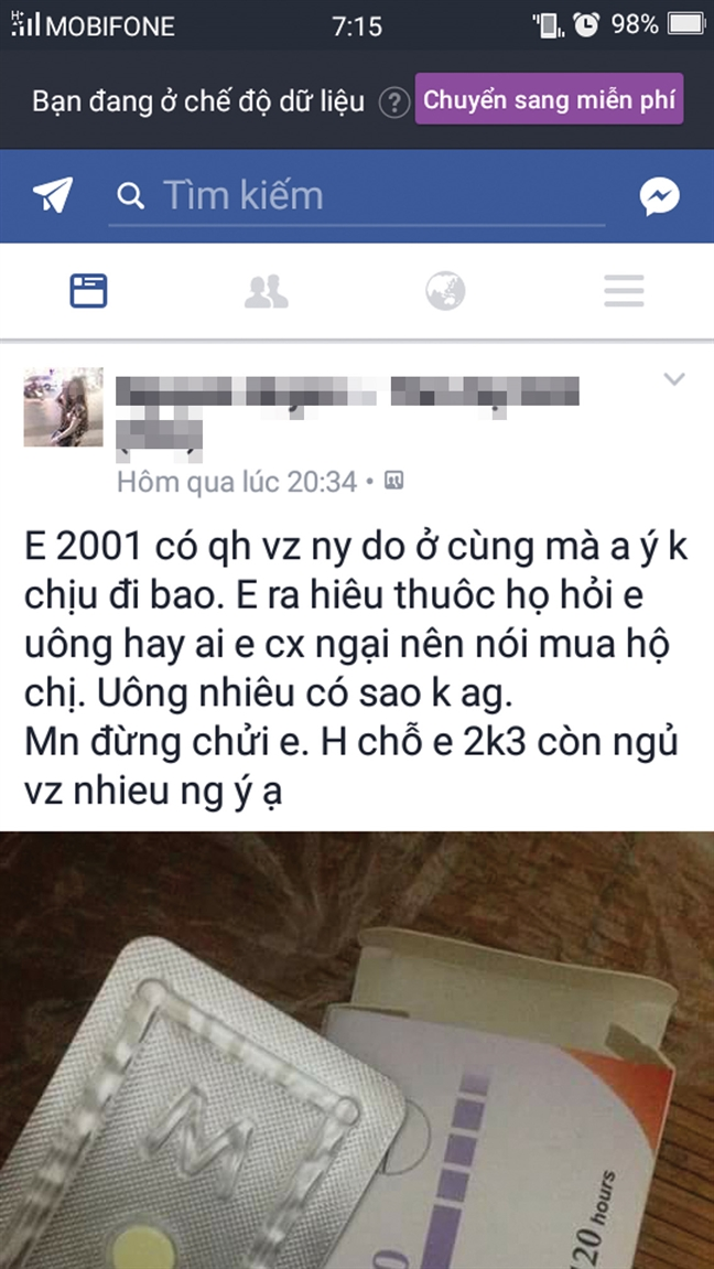 Hoc tro lop 8 mua bao cao su, thuoc tranh thai khong con la chuyen cua chung