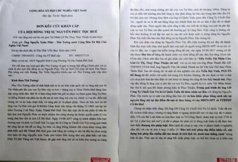 Vụ san ủi mộ vợ vua Tự Đức làm bãi xe: Nguyễn Phước tộc kêu cứu lên Thủ tướng