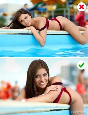 Nhung kieu tao dang ngo ngan khi dien bikini di bien nang nen tranh