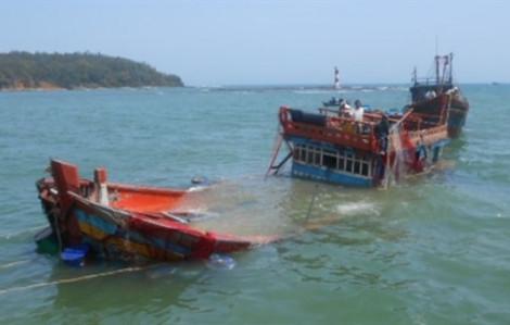 Tàu cá bị đâm trên biển, thuyền trưởng mất tích