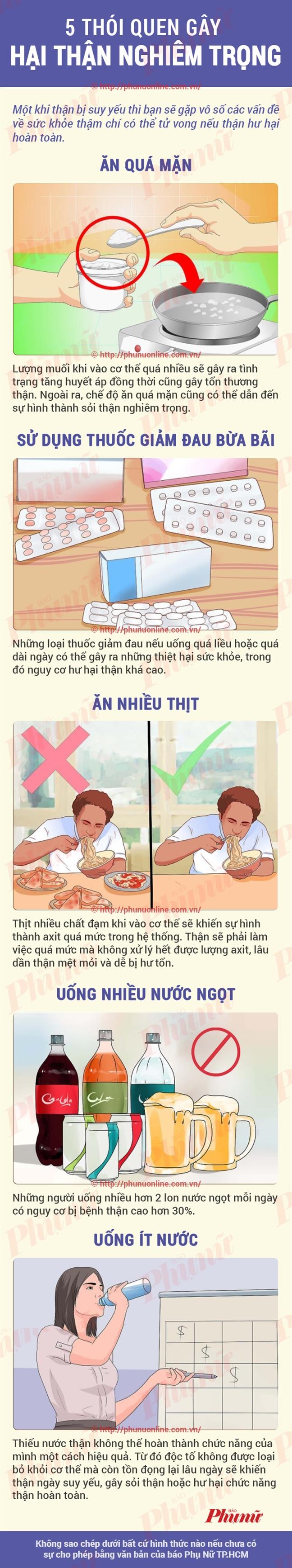 5 thoi quen xau hai than, 90% nguoi Viet hay mac phai