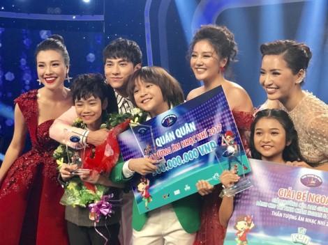 Thiên Khôi đăng quang 'Thần tượng Âm nhạc nhí 2017'