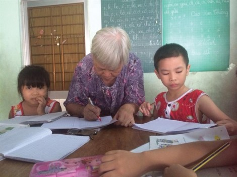 Trường Ông Ngoại ở làng chài Vạn Giã