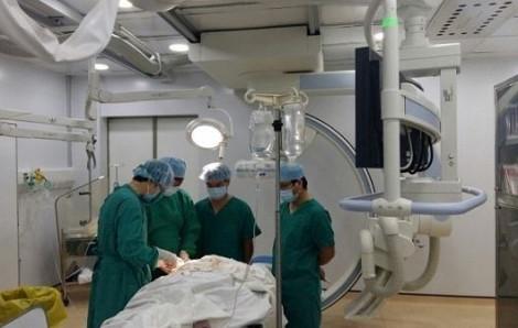 Bốn bệnh viện phối hợp cứu chữa ca nhồi máu cơ tim cấp