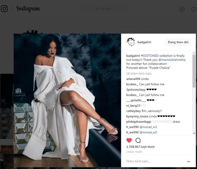 Toc Tien tu tin khi 'dung hang' trang phuc voi Rihanna