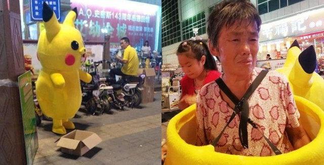 Phan nguoi tham thuong ben trong con bup be Pikachu nhay mua