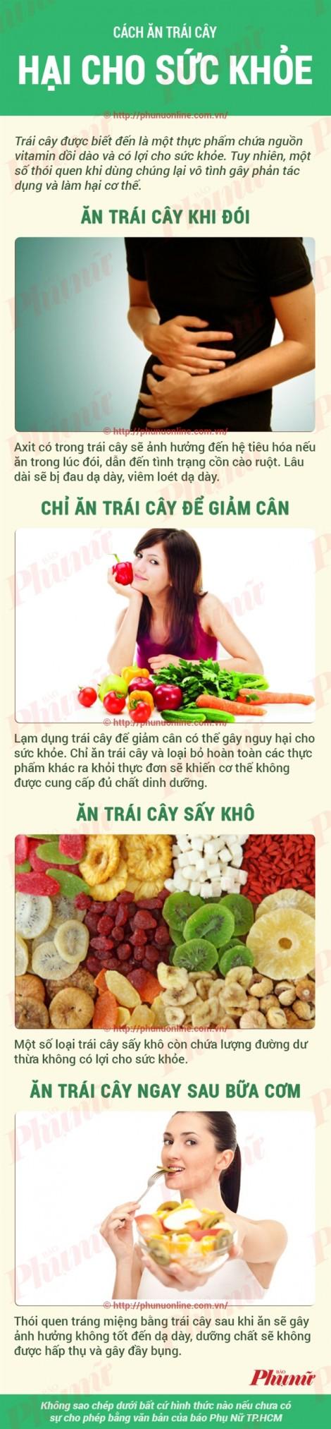 Hầu hết người Việt ăn trái cây sai cách gây hại cho sức khỏe