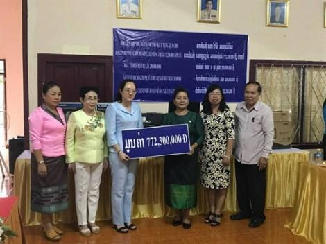 Hội LHPN TP.HCM khai giảng 3 lớp đào tạo giáo viên dạy nghề tại Viêng Chăn - Lào