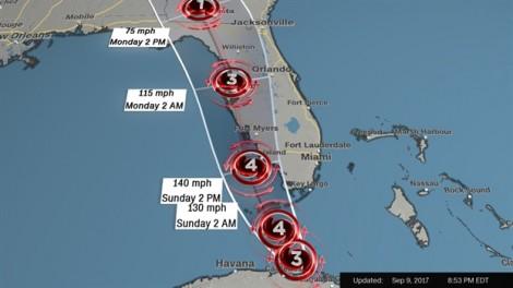Hàng ngàn người dân Mỹ tháo chạy vì bão Irma