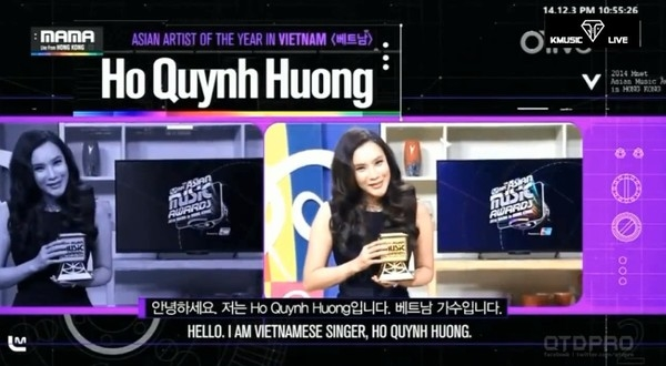 Giai thuong MAMA duoc to chuc tai Viet Nam