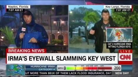 Vì sao các nhà báo bất chấp mạng sống để lao vào đưa tin từ tâm bão Irma?