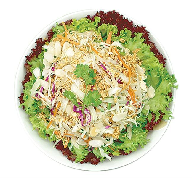Huong dan lam salad mi song, diep cuon rau mam
