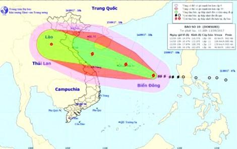 Bão cực mạnh đang hướng về miền Trung