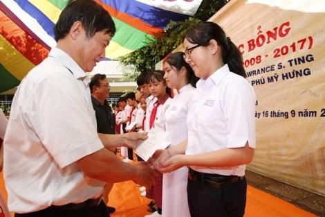 Học bổng Lawrence S. Ting: 10 năm đồng hành cùng trường THCS An Thành, Tây Ninh